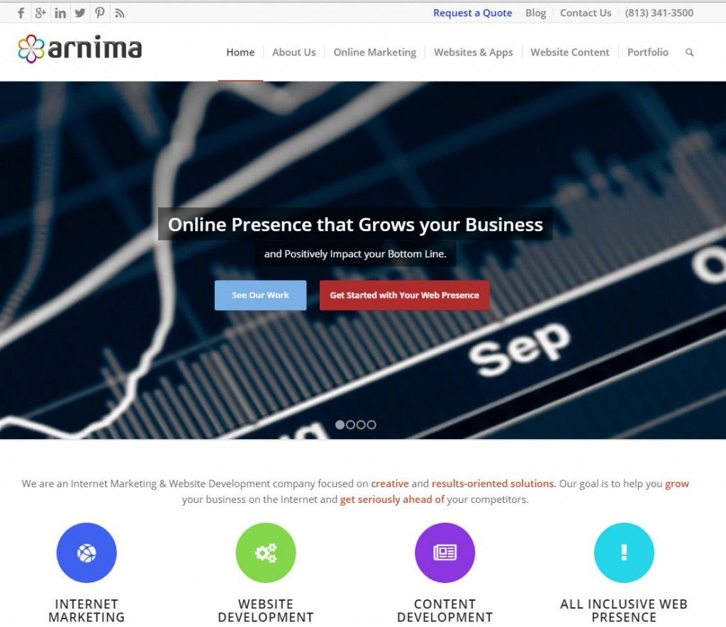 Arnima Design Website Screenshot